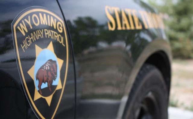 Wyoming Highway Patrol car close-up