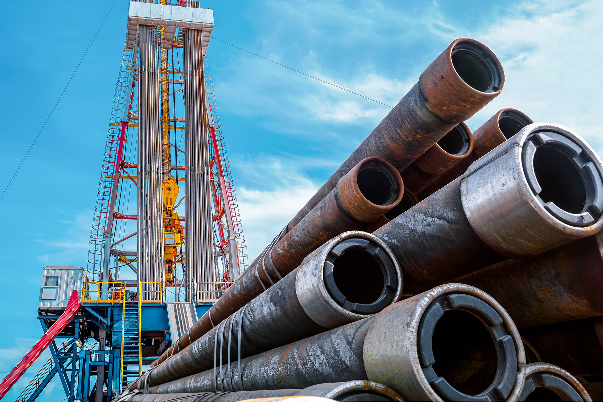 Oil and Gas Drilling Rig and Pipe