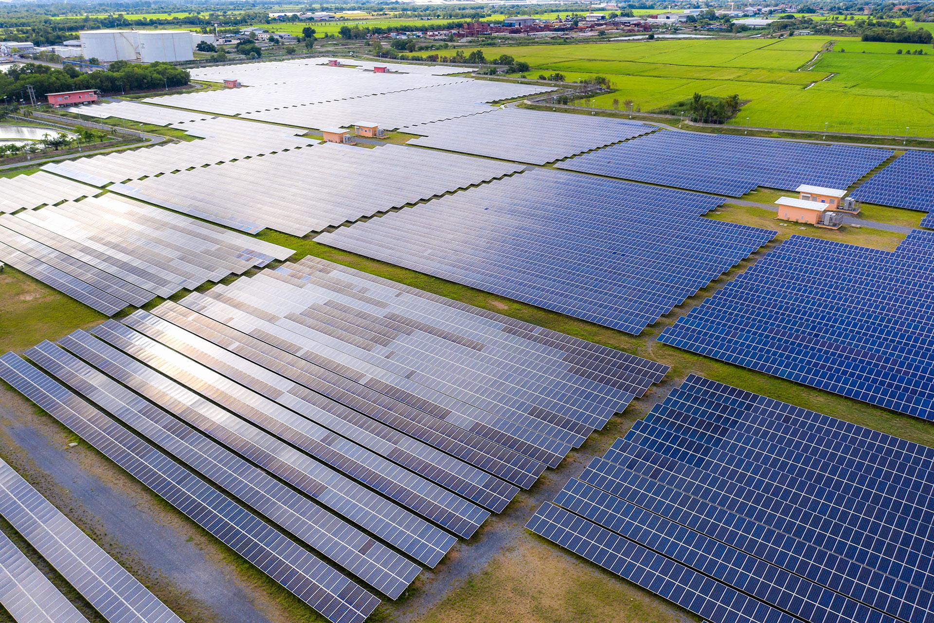 Commercial Solar Energy Stock Photo