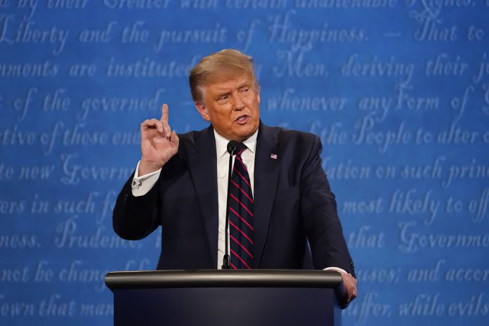 President Trump faced former Vice President Joe Biden on Thursday,October 22,2020, in a debate at the Curb Event Center at Belmont University in Nashville, Tennessee. (Stock Image Used Under License)
