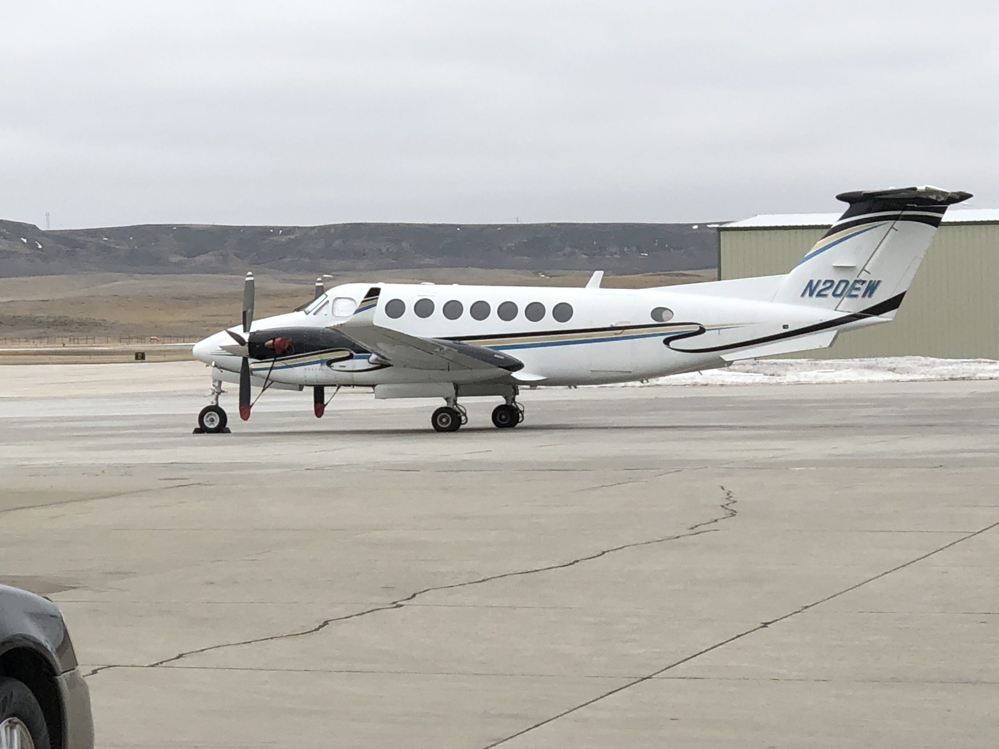 Hoops' King Air B300 Aircraft which is Owned by Triple H Aviation LLC (a Hoops company) at the Gillette Campbell County Airport in 2019.