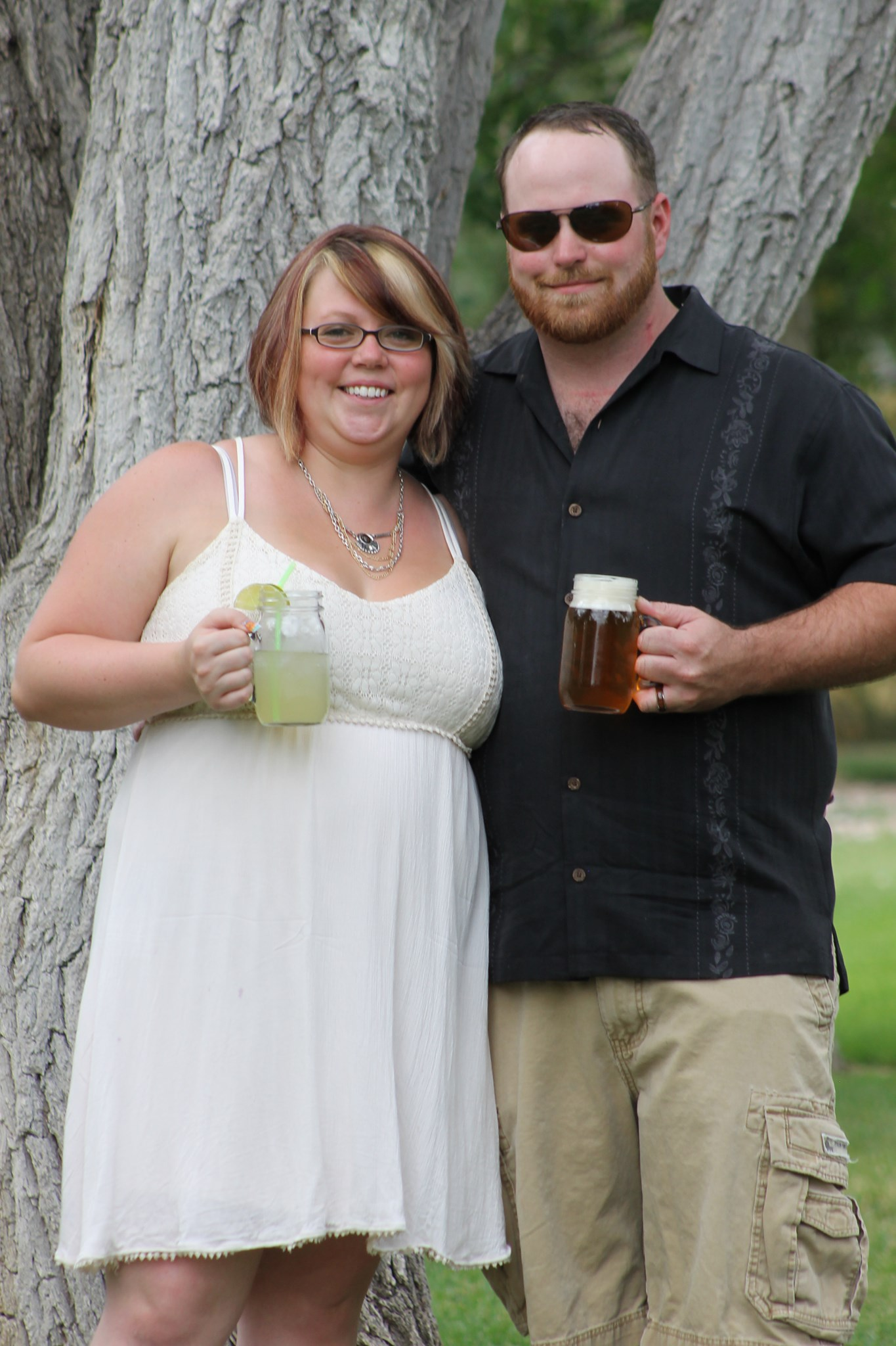 Brittany Huettl met her husband when they were neighbors in their apartment building. They have been together for 14 years and married for five of those years.