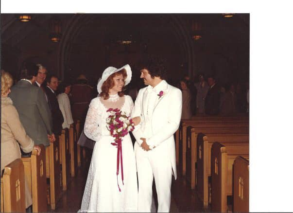 Cheryl Szmyd Opfer met her husband at a disco. They will celebrate their 40 years of marriage on Valentine's Day.