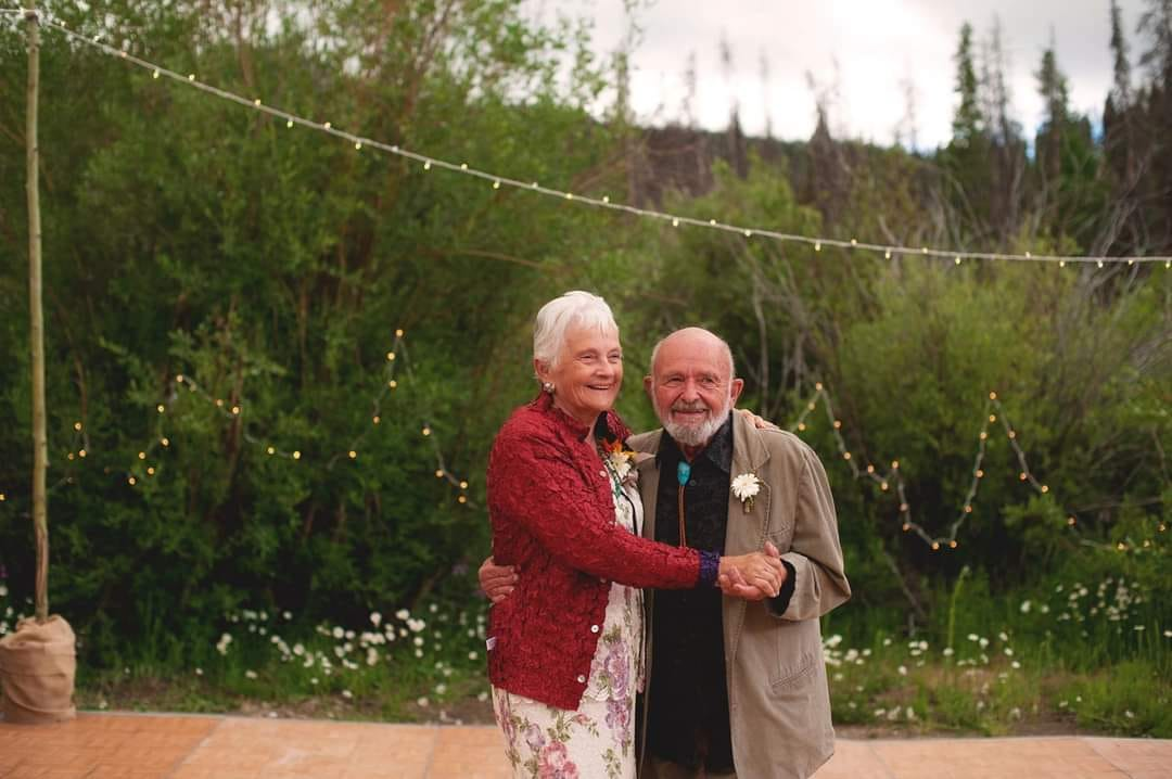 Janet Calkins met her husband at the Methodist Church Youth Fellowship when she was 15 years old. They were together for 65 years and married for almost 60 of those years before the Lord took him to Heaven.