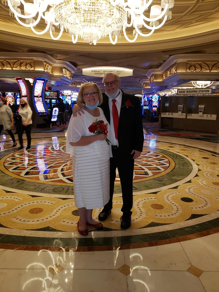 Kathleen Bokie Foster met her husband at a political campaign in 1988. They have been married for 31 years and they recently renewed their vows in Las Vegas.