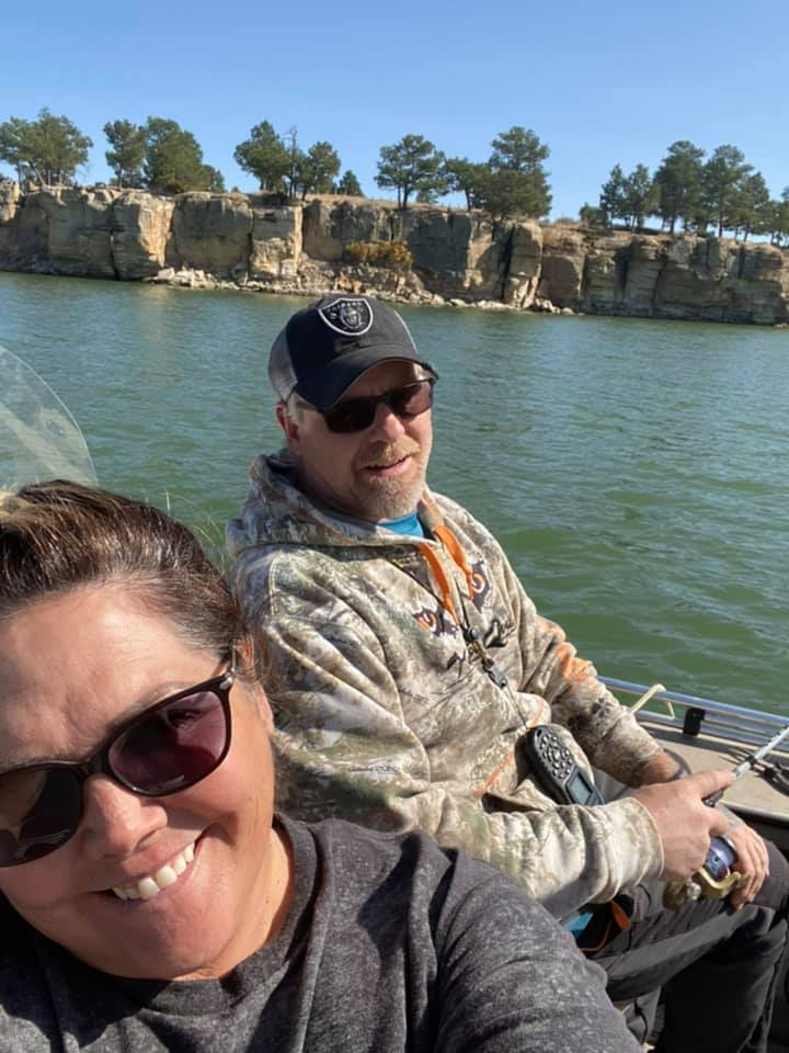 Kim Cook met her husband at a casino in 1996. They have been married for 23 years.