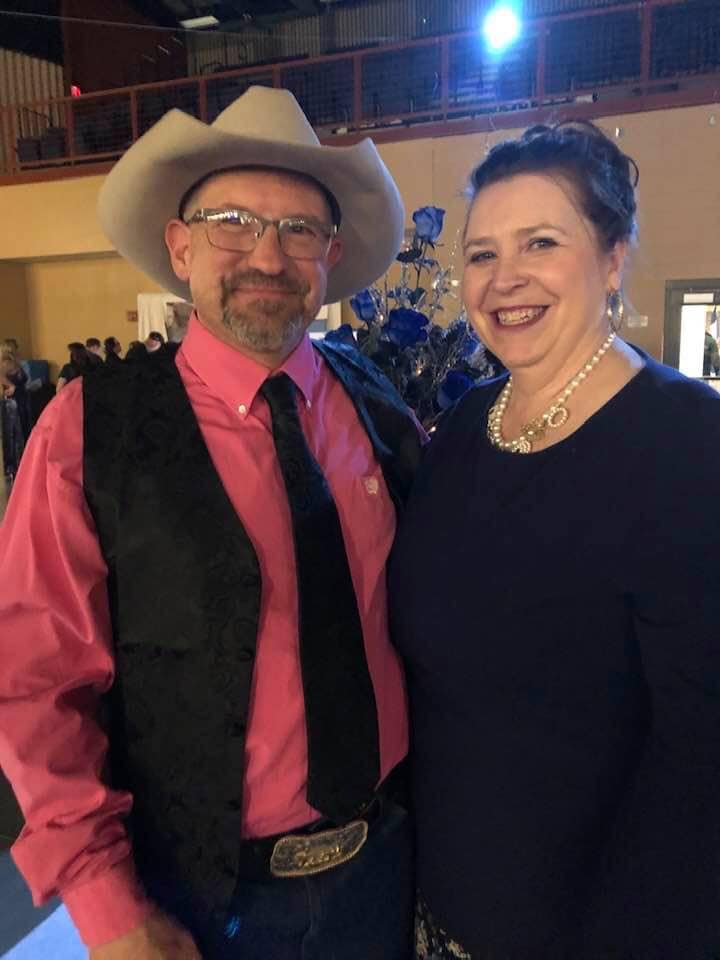 Kim Gould Johnson met her husband at a concert. They have been married for 22 years.