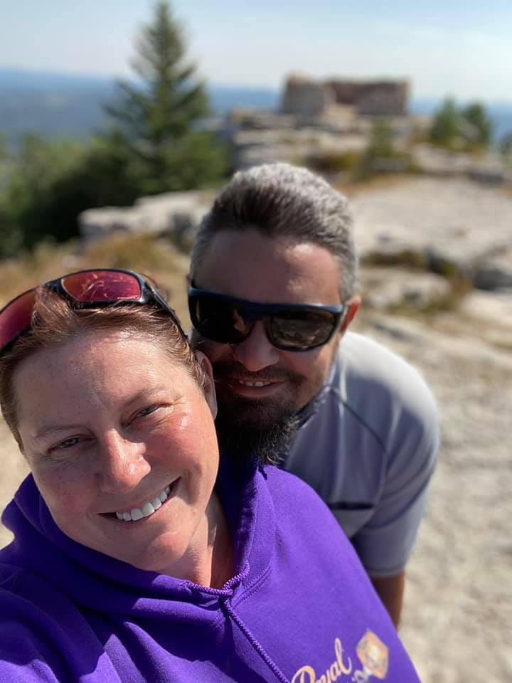 Kristina and Duane Krieter met through high school friends. They have been together for 23 years and married for 20 of those years.