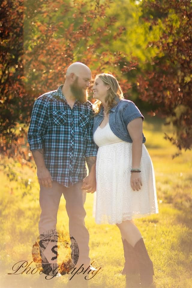 Samantha Fulton met her husband playing softball and they were married in August 2020.