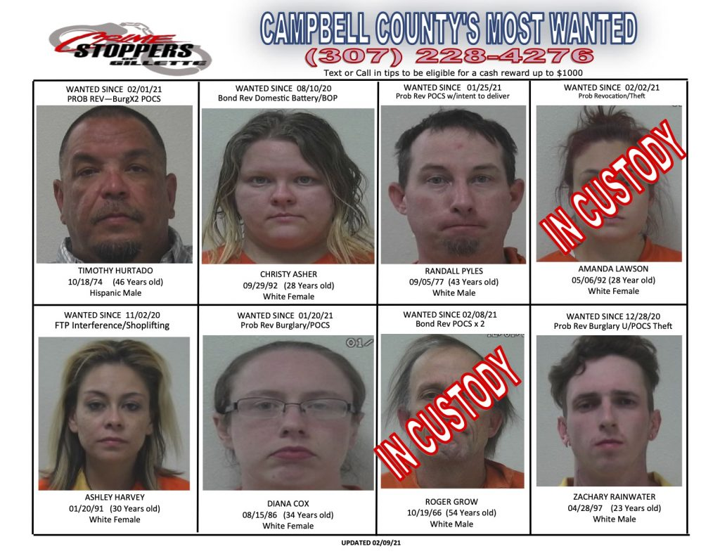 Campbell County's Most Wanted Feb. 19, 2021