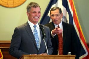 Photo of Wyoming Governor Mark Gordon and Wyoming Senator John Barrasso